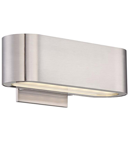 modern forms ws39610bn nia led 10 inch brushed nickel ada wall sconce