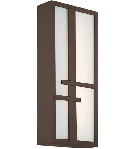 Modern Forms WS-W75618-BZ Intersect LED 18 inch Bronze Outdoor Wall Light photo