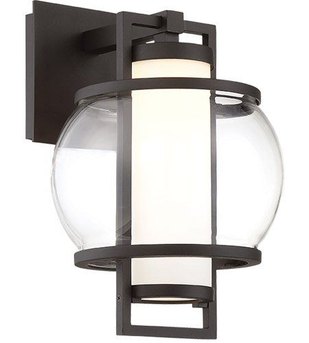 Modern Forms WS-W74612-BK Lucid LED 12 inch Black Outdoor Wall Light in 12in. photo