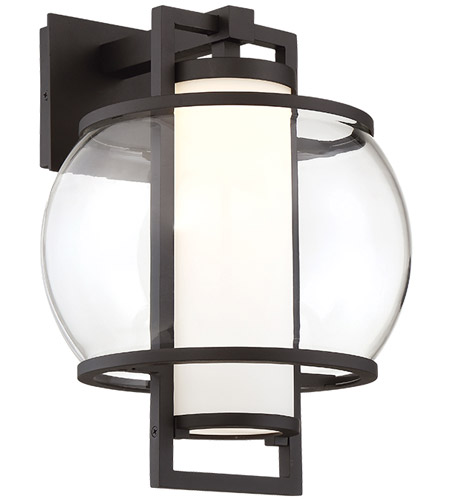 modern forms wsw74615bk lucid led 15 inch black outdoor wall light in 15in - Modern Forms Lighting