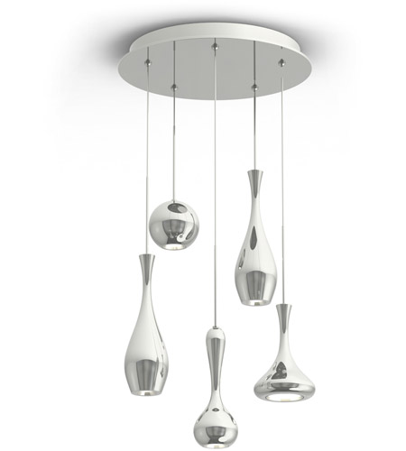 Modern Forms PD-ACID05R-PN Acid LED 17 inch Polished Nickel Chandelier Ceiling Light in 17in., 3350 photo