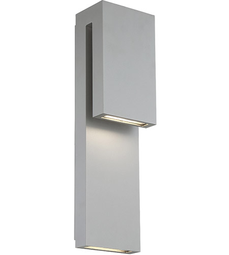 Modern Forms WS-W13718-GH Double Down LED 18 inch Graphite Outdoor Wall Light photo