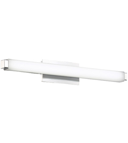 modern forms ws21718ch slim vogue led 18 inch chrome vanity light wall light