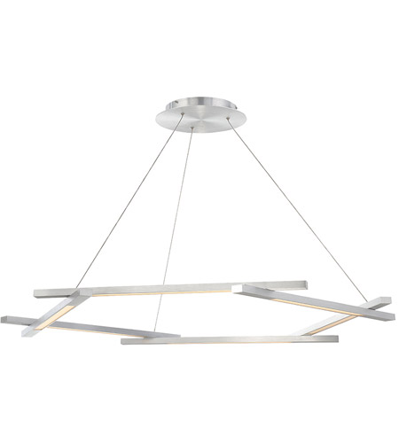 modern forms pd43748al metric led 12 inch brushed aluminum chandelier ceiling light - Modern Forms Lighting