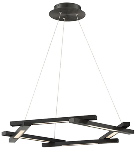 modern forms pd43728bk metric led 8 inch black chandelier ceiling light photo - Modern Forms Lighting