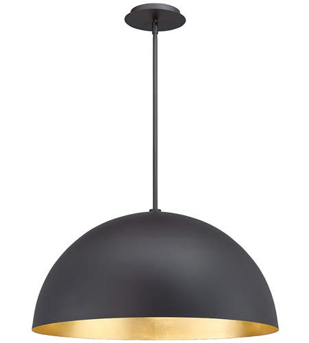 Yolo Led 26 Inch Gold Leaf Pendant Ceiling Light In 26in