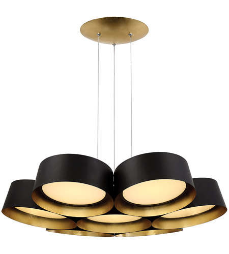 Modern Forms Pd 52734 Gl Marimba Led 34 Inch Gold Leaf Chandelier Ceiling Light In 34in