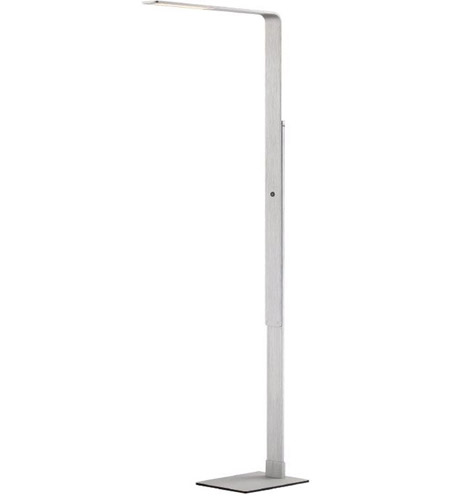 Modern Forms FL-1850-AL Linear 56 inch 12 watt Brushed Aluminum Floor Lamp Portable Light photo