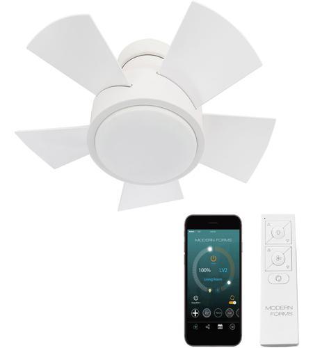 Matte White Flush Mount Ceiling Fan