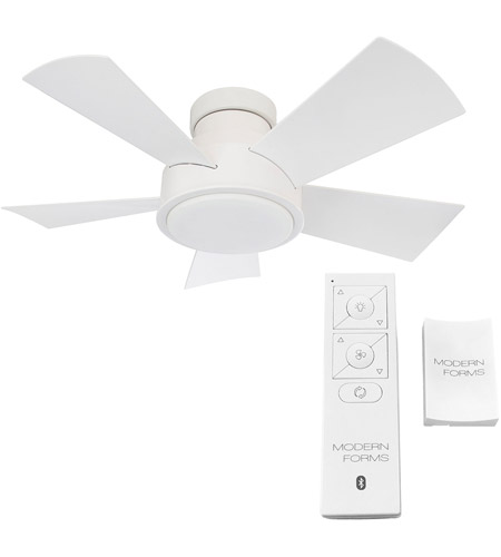 Modern Forms FH-W1802-38L-27-MW Vox 38 inch Matte White Ceiling Fan in 2700K alternative photo thumbnail