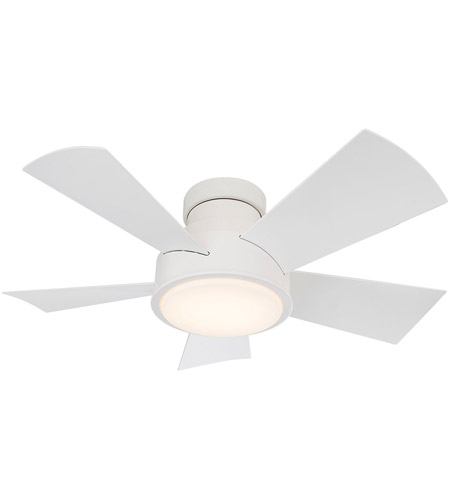 Modern Forms FH-W1802-38L-27-MW Vox 38 inch Matte White Ceiling Fan in 2700K photo thumbnail