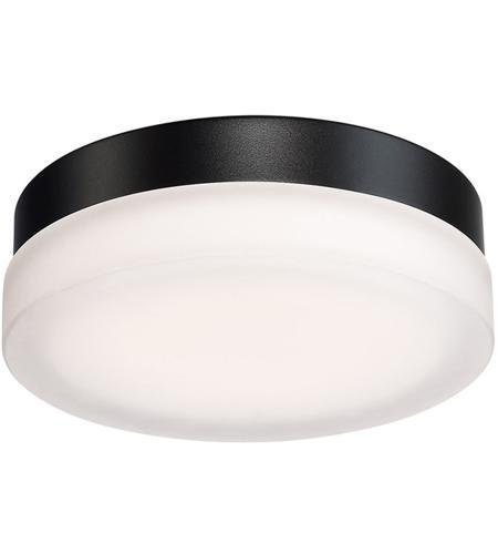 Circa Led 9 Inch Black Flush Mount Ceiling Light In 9in