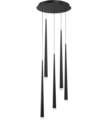 the best attitude 4f57a 6bc22 Cascade LED 17 inch Black Chandelier Ceiling Light