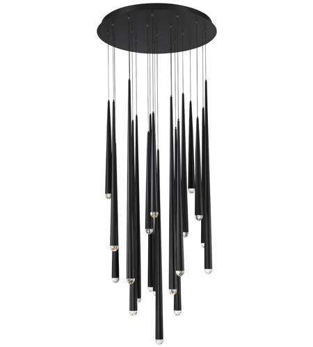 100% authentic 65236 08183 Cascade LED 26 inch Black Chandelier Ceiling Light