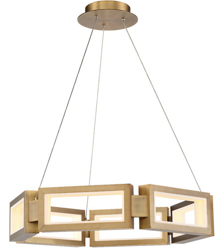 info for 24e79 4b771 Modern Forms PD-50829-AB Mies LED 29 inch Aged Brass Chandelier Ceiling  Light