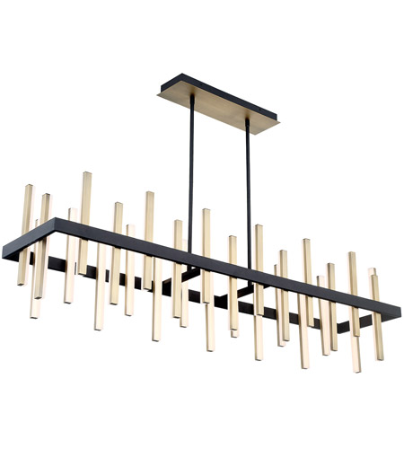 Modern Forms PD-87956-BK/AB Harmonix LED 56 inch Black Aged Brass Chandelier Ceiling Light in 56in. photo