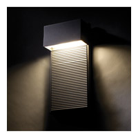 Modern Forms Hiline 2 Light LED Outdoor Wall Mount in Black WS-W2308-BK