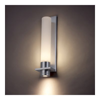 Modern Forms Jedi 2 Light LED Outdoor Wall Mount in Brushed Aluminum WS-2818-AL