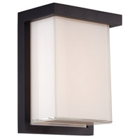 Modern Forms Ledge LED Outdoor Wall Light in Black WS-W1408-BK