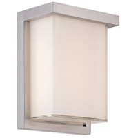 Modern Forms WS-W1408-35-AL Ledge 1 Light 8 inch Brushed Aluminum Outdoor Wall Light