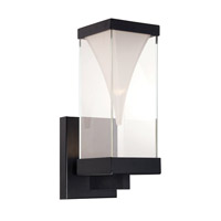 Vortex LED 16 inch Black Outdoor Wall Light