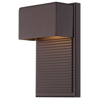 Hiline LED 8 inch Bronze Outdoor Wall Light