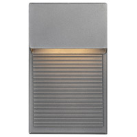 Hiline LED 8 inch Graphite Outdoor Wall Light