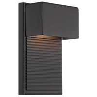 Hiline LED 8 inch Black Outdoor Wall Light