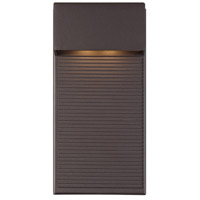 Hiline LED 12 inch Bronze Outdoor Wall Light