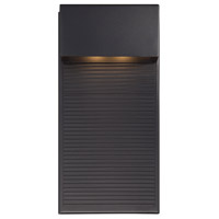 Modern Forms Hiline LED Outdoor Wall Light in Black WS-W2312-BK
