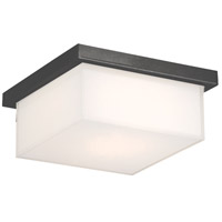 Ledge LED 8 inch Black Outdoor Flush Mount in 10in.