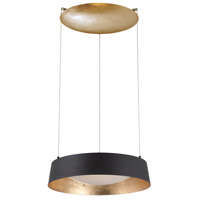 Gilt LED 18 inch Gold Leaf Chandelier Ceiling Light in Opulent Textured Gold Leaf Aluminum 4