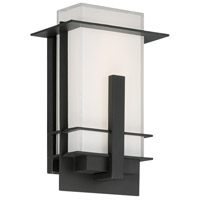 Modern Forms WS-W22510-BZ Kyoto LED 10 inch Bronze Outdoor Wall Light in 10in., White Mitered Silk-Screened Glass 8