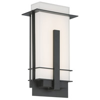 Modern Forms WS-W22514-BZ Kyoto LED 14 inch Bronze Outdoor Wall Light in 14in., White Mitered Silk-Screened Glass 12