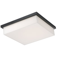 Ledge LED 14 inch Black Outdoor Flush Mount