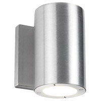 Modern Forms WS-W9101-27-AL Vessel 1 Light 6 inch Brushed Aluminum Outdoor Wall Light