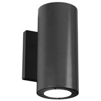 Modern Forms WS-W9102-27-BK Vessel 2 Light 8 inch Black Outdoor Wall Light