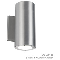 Modern Forms WS-W9102-27-AL Vessel 2 Light 8 inch Brushed Aluminum Outdoor Wall Light