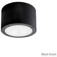 Vessel LED 6 inch Black Outdoor Flush Mount