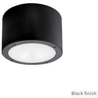 Modern Forms FM-W9100-27-BK Vessel LED 6 inch Black Outdoor Flush Mount in 2700K