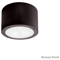 Vessel LED 6 inch Bronze Outdoor Flush Mount
