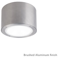 Modern Forms Vessel LED Outdoor Flush Mount in Brushed Aluminum FM-W9100-AL