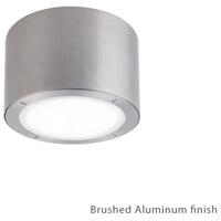 Modern Forms FM-W9100-27-AL Vessel LED 6 inch Brushed Aluminum Outdoor Flush Mount in 2700K