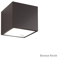Modern Forms WS-W9202-BZ Bloc LED 6 inch Bronze Outdoor Wall Light