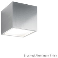 Modern Forms WS-W9202-27-AL Bloc 2 Light 6 inch Brushed Aluminum Outdoor Wall Light