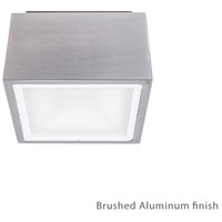 Bloc LED 6 inch Brushed Aluminum Outdoor Flush Mount