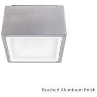 Modern Forms FM-W9200-AL Bloc LED 6 inch Brushed Aluminum Outdoor Flush Mount