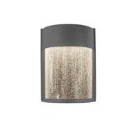 Rain LED 8 inch Graphite Outdoor Wall Light