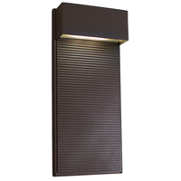 Hiline LED 16 inch Bronze Outdoor Wall Light