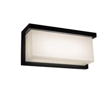 Modern Forms WS-W1412-27-BK Ledge 1 Light 6 inch Black Outdoor Wall Light